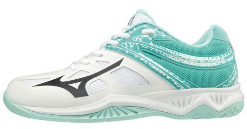 Mizuno Thunder Blade 2 WHITE / BLUEBERRY / BLUE TURQUOISE kézilabda cipő