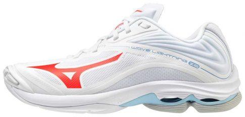 Mizuno Wave Lightning Z6 White/Red női kézilabda cipő