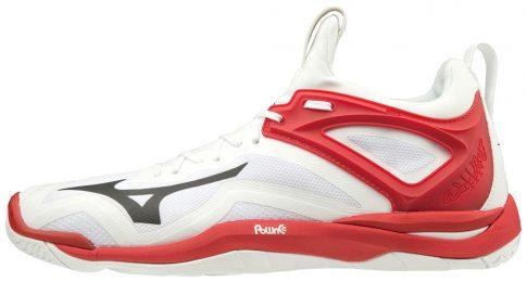 Mizuno WAVE MIRAGE 3 / WHITE / BLACK / RED kézilabda cipő