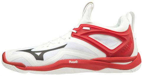 Mizuno WAVE MIRAGE 3 / WHITE / BLACK / RED kézilabda cipő