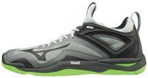 Mizuno WAVE MIRAGE 3 / HIGH RISE / BLACK / GREEN GECKO kézilabda cipő