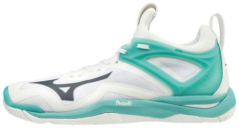 Mizuno WAVE MIRAGE 3 / WHITE / BLUEBERRY / BLUE TURQUOISE kézilabda cipő