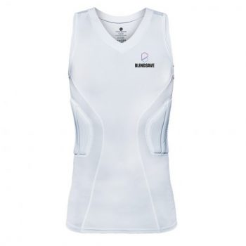 BLINDSAVE PADDED COMPRESSION SHIRT PRO WHITE