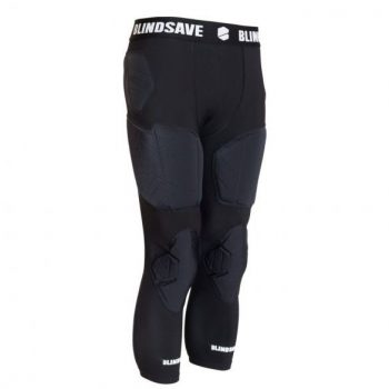 BLINDSAVE 3/4 TIGHTS WITH FULL PROTECTION BLACK