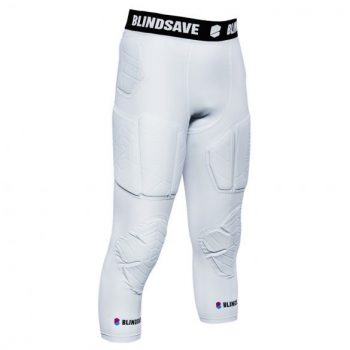 BLINDSAVE 3/4 TIGHTS WITH FULL PROTECTION WHITE