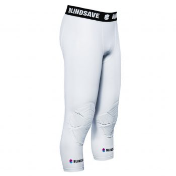 BLINDSAVE 3/4 TIGHTS WITH KNEE PADDING WHITE