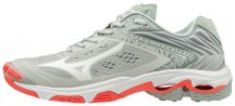 MIZUNO WAVE LIGHTNING Z5 / Glacier Gray / White / Fiery Coral női kézilabda cipő