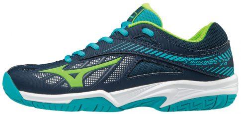 MIZUNO Lightning Star Z4 Jr DBlue/PeacockBlue/Green gyermek kézilabda cipő