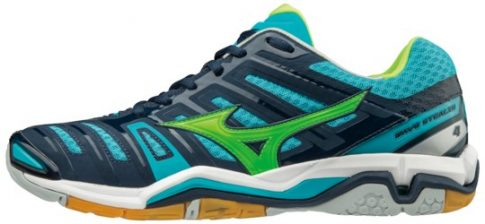 Mizuno Wave Stealth 4 Dress Blues/Green/Peacock kézilabda cipő