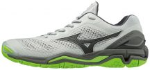 MIZUNO WAVE STEALTH V / High Rise / Black / Green Gecko KÉZILABDA CIPŐ