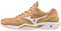 MIZUNO WAVE STEALTH V / Sheepskin / White / Indian Tan kézilabda cipő