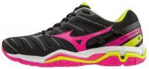 Mizuno Wave Stealth 4 Black/Pink/Yellow női kézilabda cipő