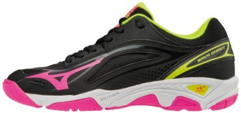 Mizuno Wave Ghost Black/Pink/Yellow női kézilabda cipő